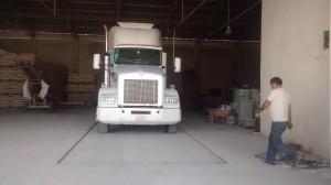 Báscula camionera fosa